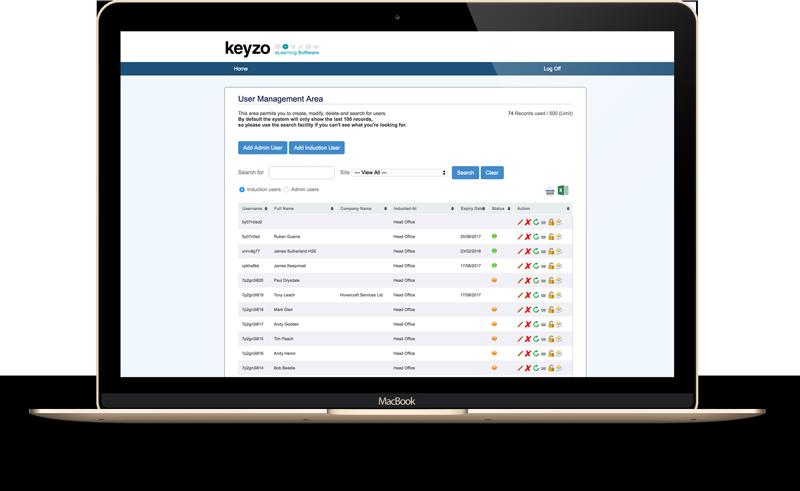 online induction user management