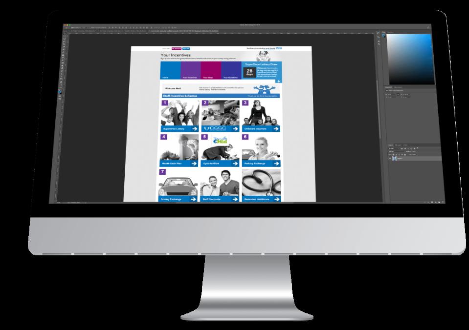 Staff Portal Software Layout Design