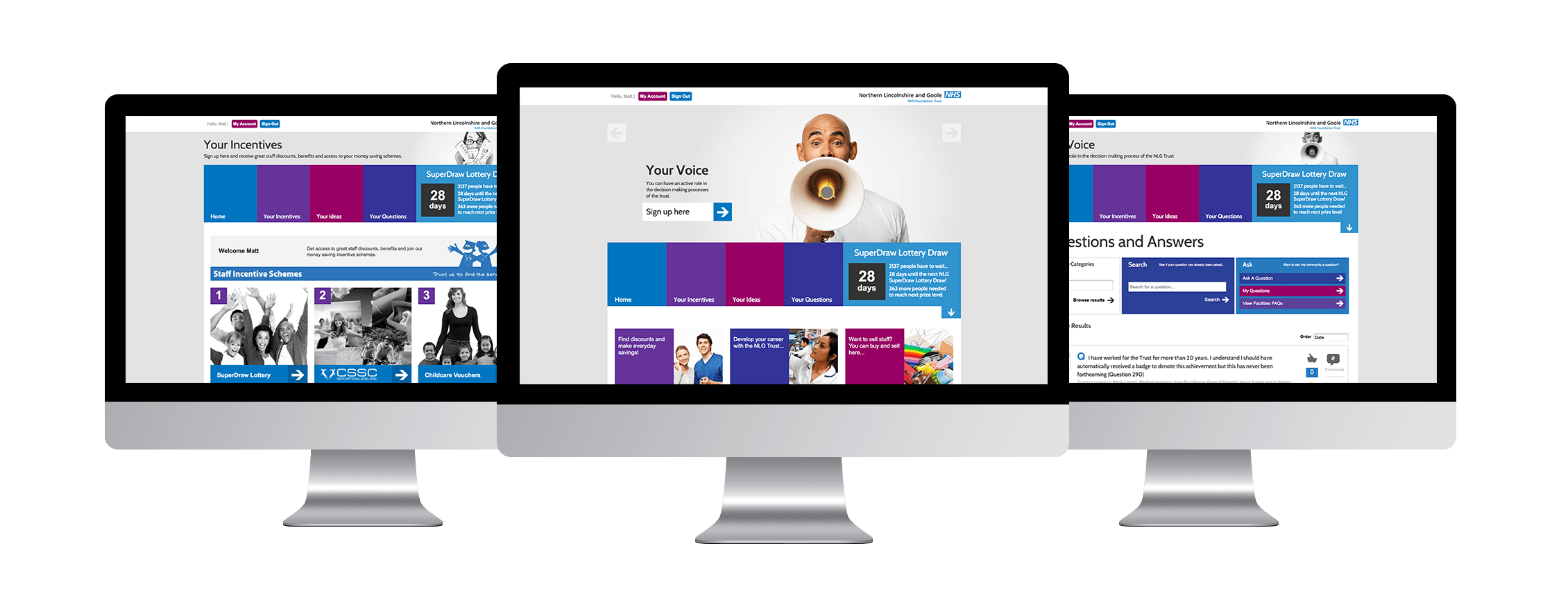 NHS Staff Portal Design Layouts