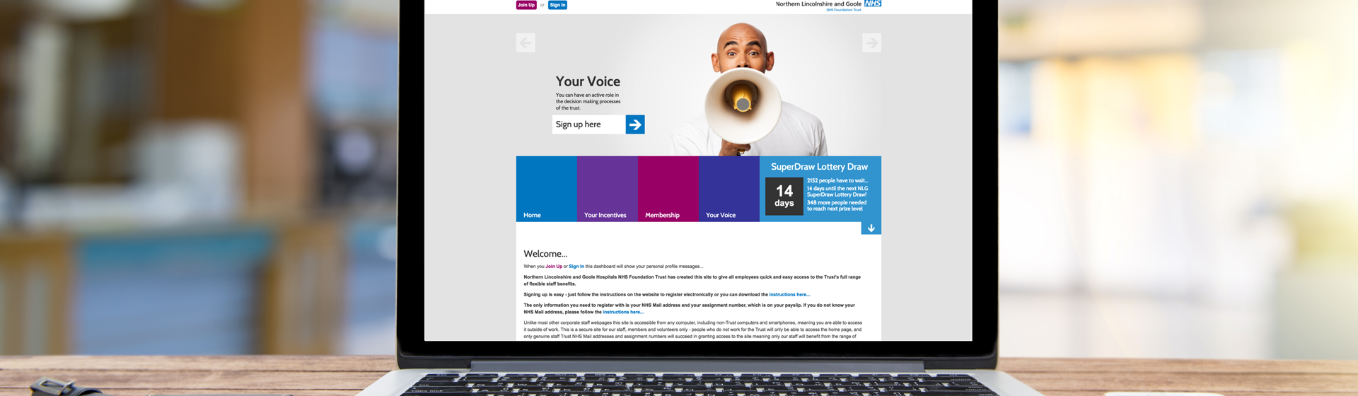 Northern Lincolnshire and Goole Hospitals Staff Portal Homepage