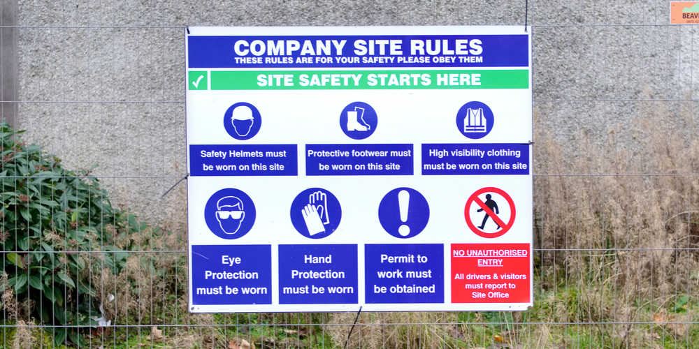 Construction site regulations