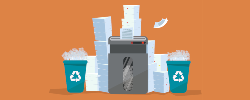 wasted paper, which you can save using a digital solution