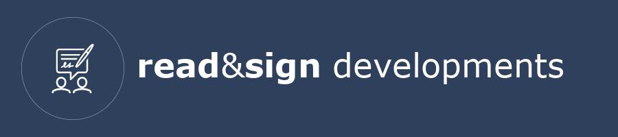 read&sign developments