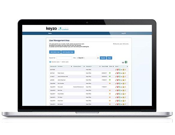 Online induction management system